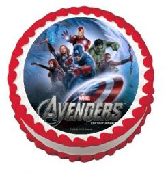 Avengers edible image cake cupcake sticker cake toppers