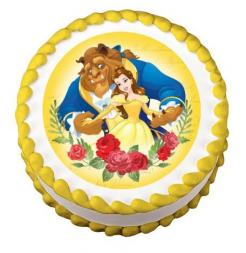 Beauty and the Beast Belle edible image cake cupcake sticker cake toppers