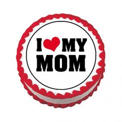 Mother's day cupcake toppers cake stickers edible image cake decal