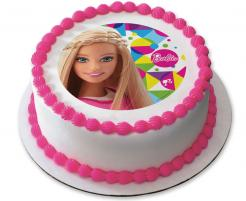 Barbie edible image cake cupcake sticker cake toppers