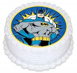 Batman edible image cake cupcake sticker cake toppers
