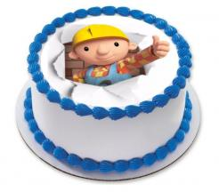 Bob the Builder cake sticker edible image cake decal wafer paper cupcake topper