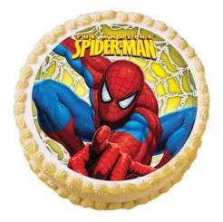 Spideman edible image cake sticker cupcake topper