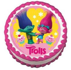 Trolls cupcake topper edible image cake sticker