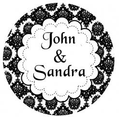 Wedding/Anniversary cake sticker edible image cake decals toppers