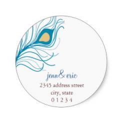 Peacock Wedding/Anniversary cake sticker edible image cake decals toppers
