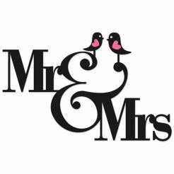 Mr. & Mrs. Wedding/Anniversary cake sticker edible image cake decals toppers