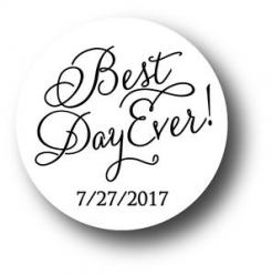 Best Day Ever Wedding/Anniversary cake sticker edible image cake decals toppers