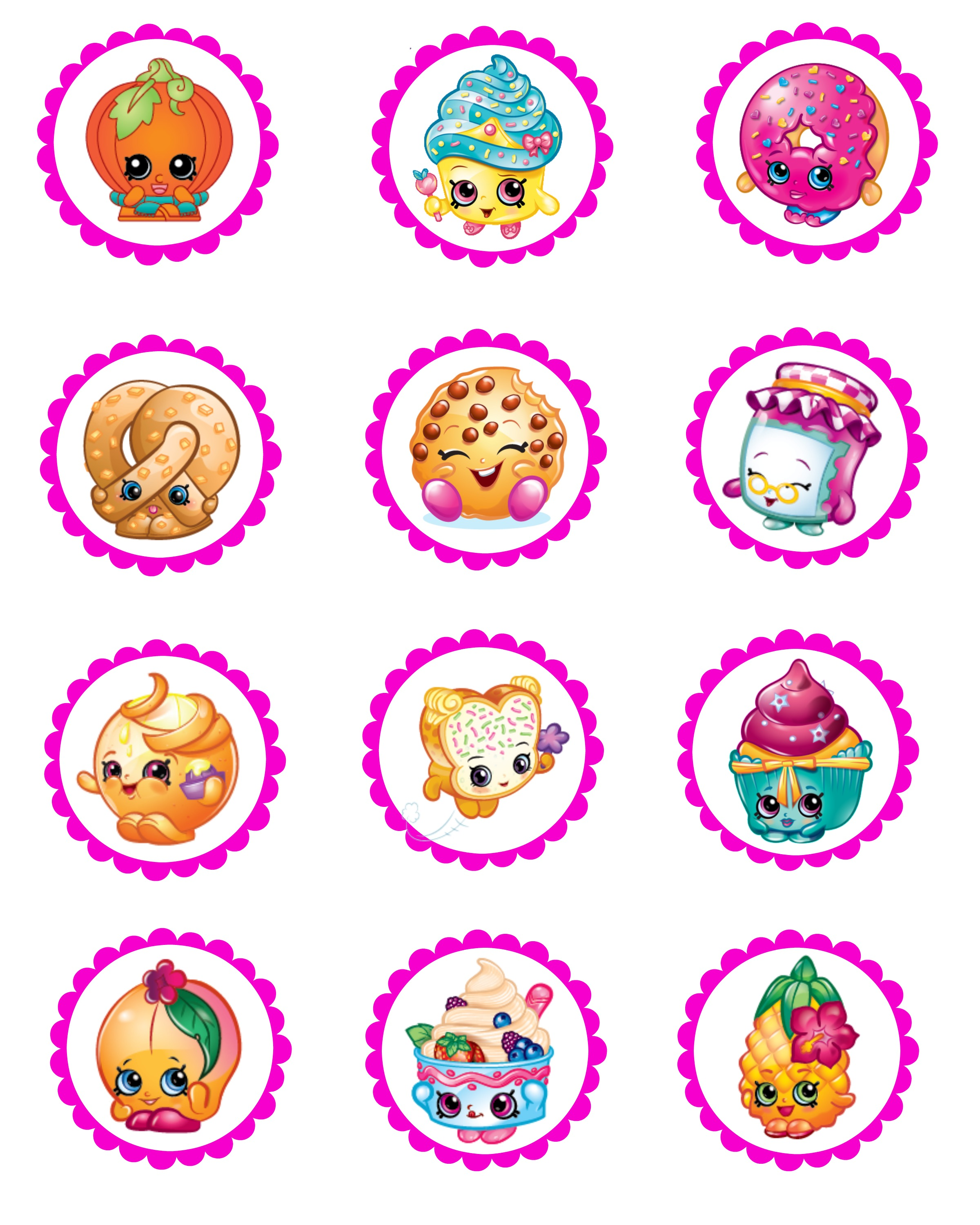 Edible images photo cakes cake stickers sugar sheets - Shopkins pics ...
