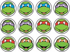 Tenage Muntant Turtle TMNT cake topper, edible image cake sticker decal, TMNT cupcake topper