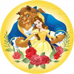 Beauty and the Beast cake topper, Beauty and the Beast cupcake topper, Beauty and the Beast edible image
