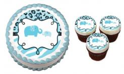 baby shower safari cake toppers cake stickers edible images wafer paper