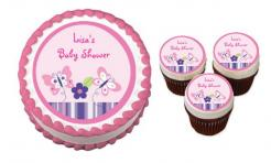 butterfly baby shower cake topper edible image