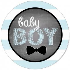 Little Man Baby Shower cake sticker edible image cake decal wafer paper cupcake topper