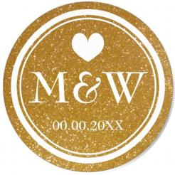wedding cake toppers, Gold Monogram cupcake topper cake topper edible image