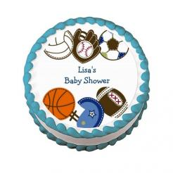 sportsl cake topper edible image sports cupcake toppers