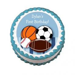 football cake topper edible image sports cupcake toppers