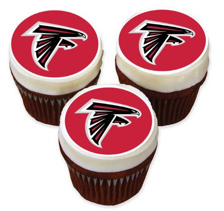 Atlanta Falcons Cupcake Toppers Edible Image Cake Stickers Was 1095 Now 850