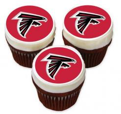 Atlanta Falcons cupcake toppers edible image cake stickers