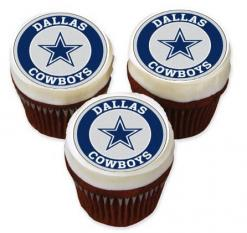 Dallas Cowboys cupcake toppers edible image cake stickers
