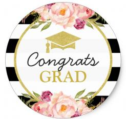 flowers class of 2018 edible image cupcake cake sticker, graduation cakes, graduation cake toppers, graduation sugar she