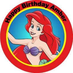 Little Mermaid Ariel edible image cupcake toppe