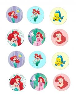 Little Mermaid Ariel edible image cupcake topper
