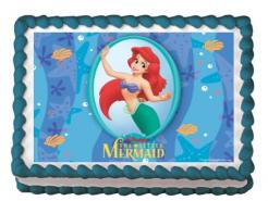 Little Mermaid Ariel edible image cupcake topper cake sticker
