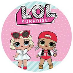 Lol Surprise edible cake topper edible image
