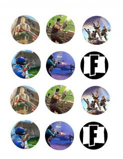 Fortnite cupcake and cookie toppers edible image