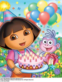 Dora the Explorer cake topper edible image cupcake topper edible print