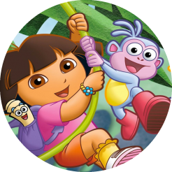 Dora the Explorer cake topper edible image cake sticker