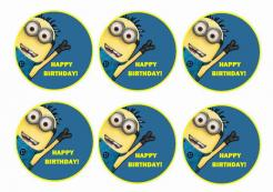 Minions cake topper edible print cake sticker 10