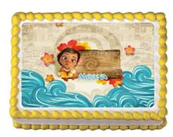 Moana cake sticker edible image