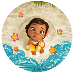 Moana cake topper edible image cake sticker