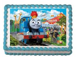 Thomas the Train cake topper edible image cake sticker