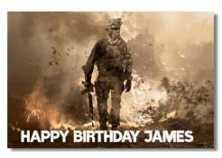 Call of Duty cake topper edible image cake sticker