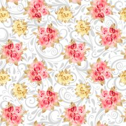 Gold and pink flowers