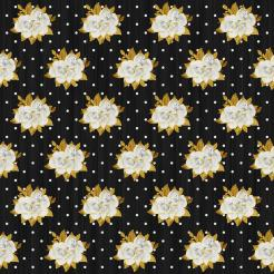 Gold and black flowers