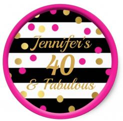 40 and fabulous cake topper edible image cupcake cake topper cake sticker
