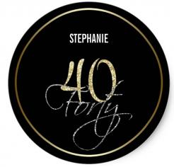 40th birthday  cake topper edible image cupcake cake topper cake sticker