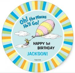 Dr. Seuss, oh the places you will gobirthday cake topper edible image cupcake cake topper cake sticker