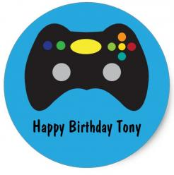 gaming game controler cake topper edible image cupcake cake topper  cake sticker
