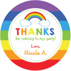 rainbow cake topper edible image cupcake cake topper cake sticker