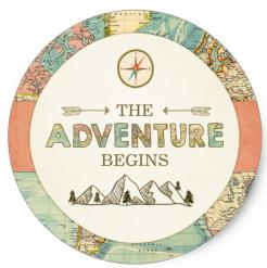the adventure begins cake topper edible image cupcake cake topper  cake sticker