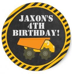tractor dump truck birthday cake topper edible image cupcake cake topper cake sticker