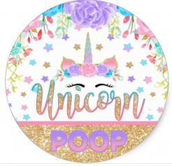 Unicorn poop cake topper edible image cupcake cake topper cake sticker