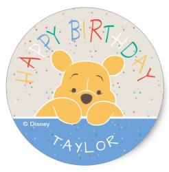 Winnie the Pooh  cake topper edible image cupcake cake topper cake sticker