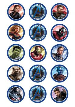vengers edible image cupcakes decals