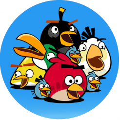 Angry Birds edible image cupcakes decals
